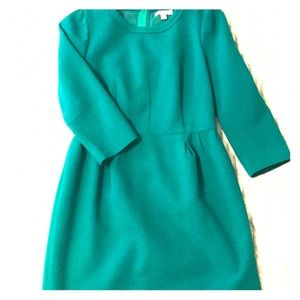Emerald 3/4 length sleeve dress